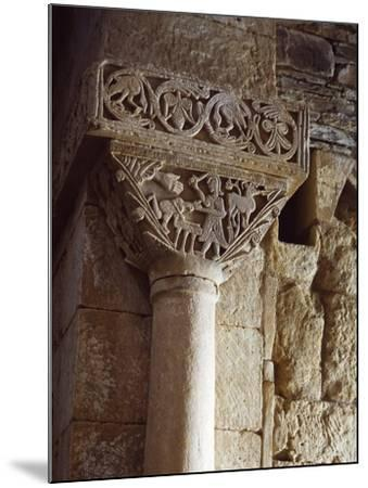 Spain, Zamora, Church of St Peter of Nave, Sacriface of Isaac, Detail of a Carved Capital--Mounted Giclee Print