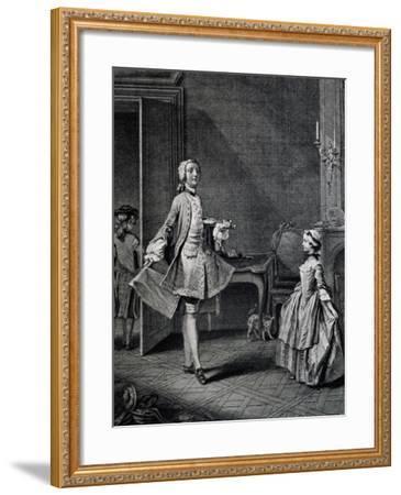 Dance Teacher, France--Framed Giclee Print
