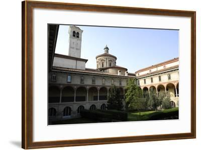 Milan, Italy, the Science and Technology Museum Leonardo Da Vinci, Cloister--Framed Giclee Print