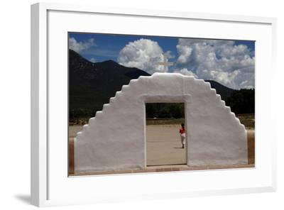 United States. Taos Pueblo. Arched Entrance to the St Jerome Chapel, 1850--Framed Giclee Print