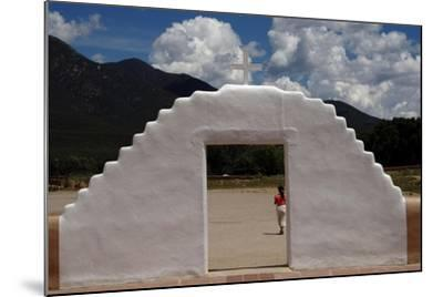 United States. Taos Pueblo. Arched Entrance to the St Jerome Chapel, 1850--Mounted Giclee Print