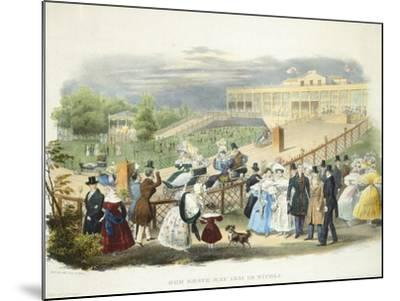 Austria, Vienna, Schonbrunn Palace, Wheelchairs Race at Tivoli Pavilion, 1831--Mounted Giclee Print
