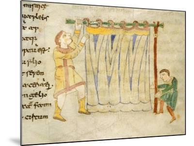 Drapers, Miniature from a Work by Rabano Mauro, Manuscript, Italy 11th Century--Mounted Giclee Print