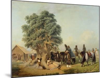 Travelers Resting, Prilidiano Pueyrredon, Argentina--Mounted Giclee Print