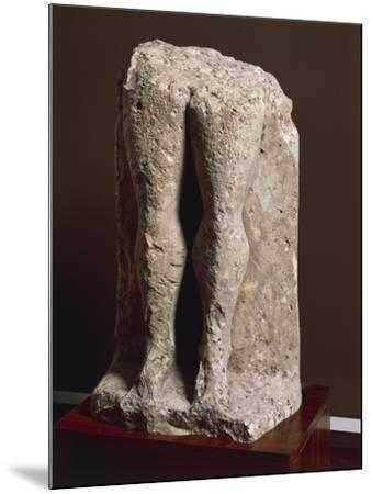 "Fragment of Stele-Statue known as ""Devil's Legs"", from Collelongo, Province of L'Aquila, Italy--Mounted Giclee Print"