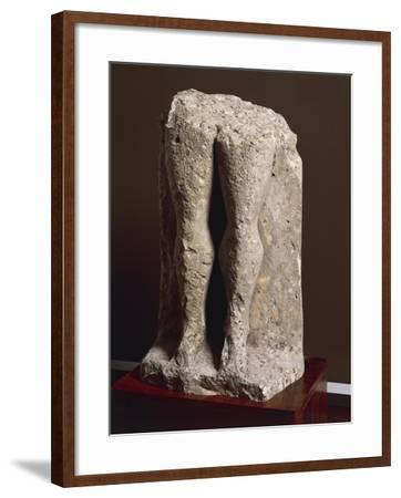 "Fragment of Stele-Statue known as ""Devil's Legs"", from Collelongo, Province of L'Aquila, Italy--Framed Giclee Print"