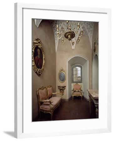Italy, Sant Angelo Lodigiano, Morando Bolognini Castle, Gilded Salon in Mozza Tower--Framed Giclee Print