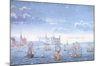View of Helsingor and Kronborg Castle, 1739--Mounted Giclee Print