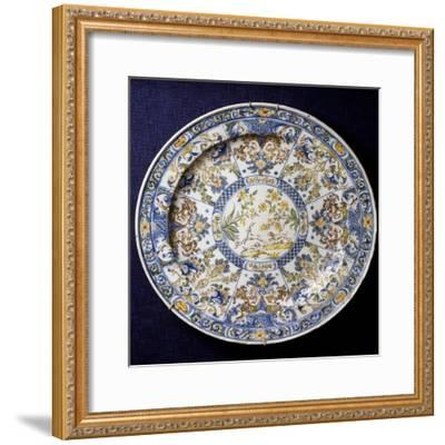Ceremonial Plate with Sections Decorated in Berain-Style, 1736--Framed Giclee Print