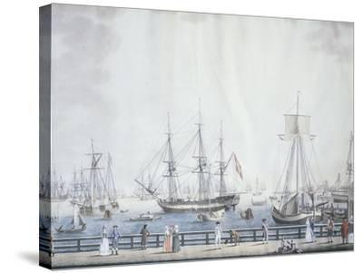 The Port of Copenaghen, 1794, Denmark 18th Century--Stretched Canvas Print