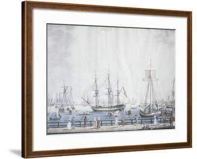 The Port of Copenaghen, 1794, Denmark 18th Century--Framed Giclee Print