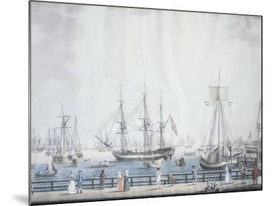 The Port of Copenaghen, 1794, Denmark 18th Century--Mounted Giclee Print
