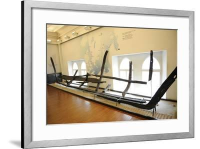 Remains of a Sunken Wooden Ship, 13th Century--Framed Giclee Print