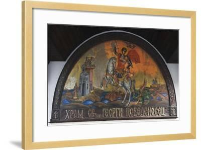 Painting Depicting St George, Lunette from Church of San Giorgio, Sozopol, Bulgaria--Framed Giclee Print
