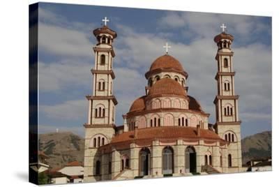 Republic of Albania, Korce, Resurrection Cathedral, Exterior--Stretched Canvas Print