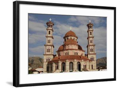 Republic of Albania, Korce, Resurrection Cathedral, Exterior--Framed Giclee Print