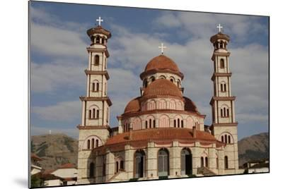 Republic of Albania, Korce, Resurrection Cathedral, Exterior--Mounted Giclee Print