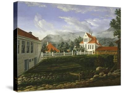 Typical Middle Class Home in Bergen, Norway 19th Century--Stretched Canvas Print