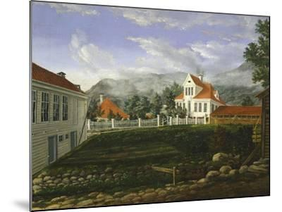 Typical Middle Class Home in Bergen, Norway 19th Century--Mounted Giclee Print