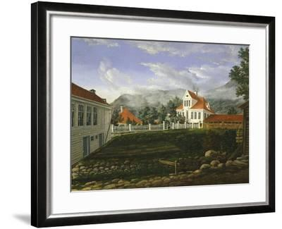 Typical Middle Class Home in Bergen, Norway 19th Century--Framed Giclee Print