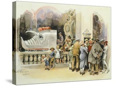Merry-Go-Round at Vienna Prater, 1925--Stretched Canvas Print