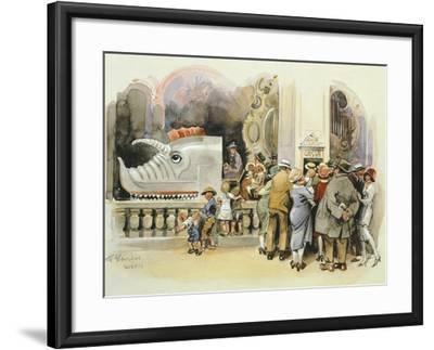 Merry-Go-Round at Vienna Prater, 1925--Framed Giclee Print