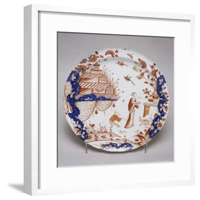 Japanese-Inspired Gold and Polychrome Plate, 1710--Framed Giclee Print