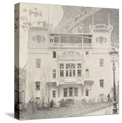 Pavillon Bleu Restaurant in Paris During Exposition Universelle, 1900, France--Stretched Canvas Print