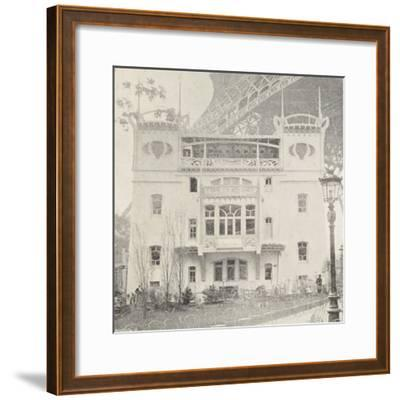 Pavillon Bleu Restaurant in Paris During Exposition Universelle, 1900, France--Framed Giclee Print