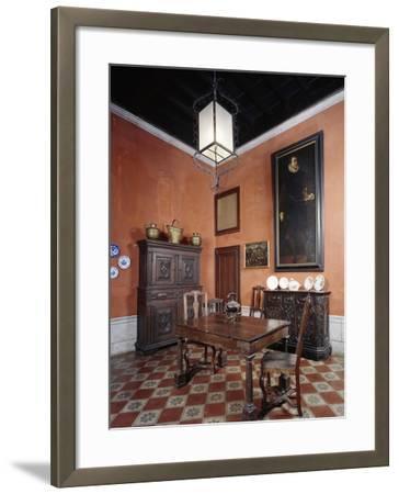 Italy, Sant Angelo Lodigiano, Morando Bolognini Castle, Dining Room--Framed Giclee Print