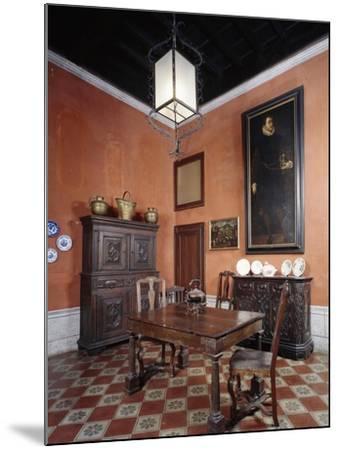 Italy, Sant Angelo Lodigiano, Morando Bolognini Castle, Dining Room--Mounted Giclee Print