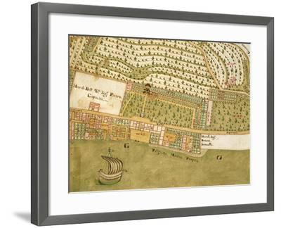 Italy, Brescia, Bogliaco Gargnano, Villa Bettoni and Park, Map--Framed Giclee Print