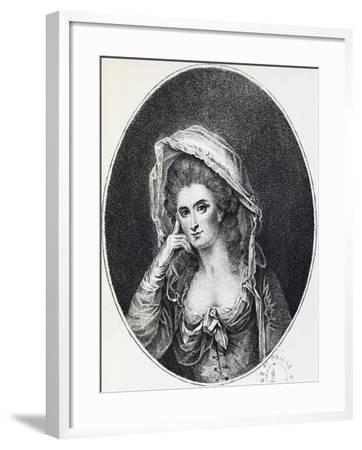 Portrait of Marie Lejay, known as Mademoiselle D'Oliva, 1785--Framed Giclee Print