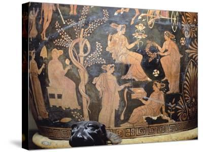 Vase Depicting Garden of Hesperides, Itay--Stretched Canvas Print