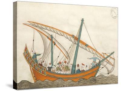 Passenger Ship, Miniature from Turkish Memories, Arabic Manuscript, Cicogna Codex, Turkey--Stretched Canvas Print