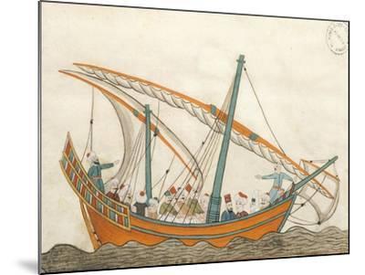 Passenger Ship, Miniature from Turkish Memories, Arabic Manuscript, Cicogna Codex, Turkey--Mounted Giclee Print