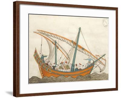 Passenger Ship, Miniature from Turkish Memories, Arabic Manuscript, Cicogna Codex, Turkey--Framed Giclee Print