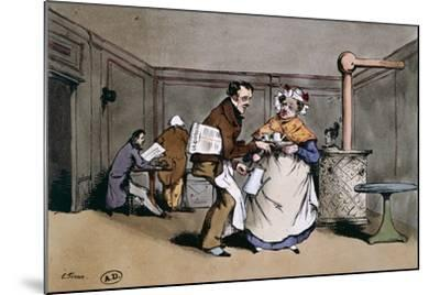 A Cafe' in Paris, Ca 1830, France 19th Century--Mounted Giclee Print