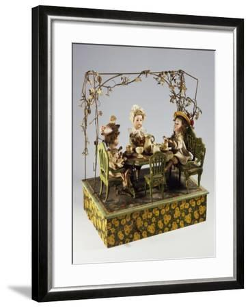 Dolls' Tea Party, Music Box, Germany, Late 19th Century--Framed Giclee Print