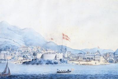 The Port of Christiansted in Saint Croix in the Virgin Islands--Framed Giclee Print