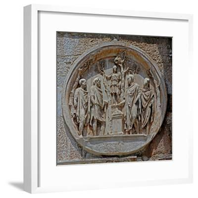 Detail from Constantine's Arch in the Colosseum--Framed Giclee Print