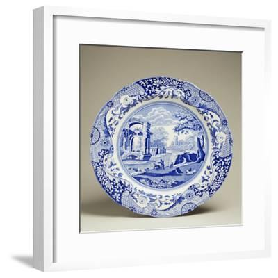Plate Decorated with Landscape, Ceramic--Framed Giclee Print