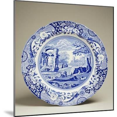 Plate Decorated with Landscape, Ceramic--Mounted Giclee Print