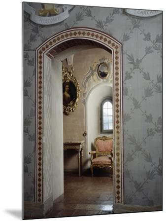 Italy, Morando Bolognini Castle, Mozza Tower, Throne Room with Entrance to Golden Salon--Mounted Giclee Print