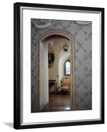 Italy, Morando Bolognini Castle, Mozza Tower, Throne Room with Entrance to Golden Salon--Framed Giclee Print