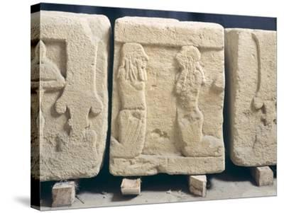 Stone Slabs with Reliefs. Etruscan Civilization, 9th-1st Century BC--Stretched Canvas Print