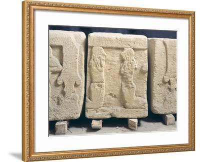 Stone Slabs with Reliefs. Etruscan Civilization, 9th-1st Century BC--Framed Giclee Print