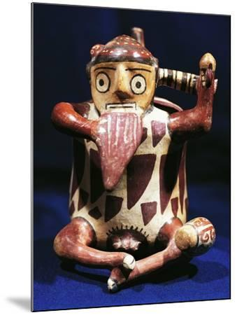 Anthropomorphic Polychrome Terracotta Vessel with Music Symbols, Peru, Nazca Culture--Mounted Giclee Print