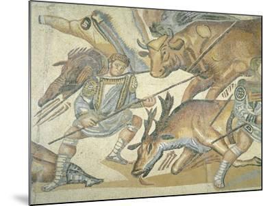 Mosaic Depicting a Hunting Scene, from Terranova, Near Tusculum, Lazio--Mounted Giclee Print