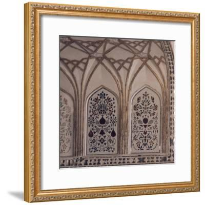 Decoration of Hall of Private Audience in Amer Fort in Jaipur, Rajasthan, India--Framed Giclee Print